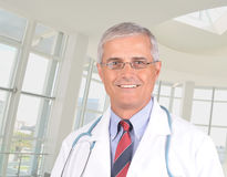 Middle aged Doctor portrait Royalty Free Stock Photography