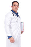 Middle Aged Doctor with stethoscope Royalty Free Stock Images
