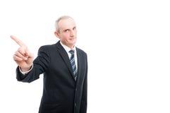 Middle aged elegant man showing index finger Royalty Free Stock Photo