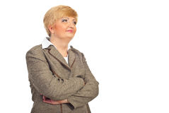 Middle aged executive woman looking away Royalty Free Stock Image