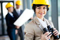 Middle aged female architect Royalty Free Stock Photo