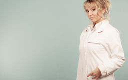 Middle aged female medical doctor. Royalty Free Stock Photography