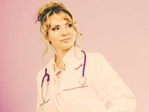 Middle aged female medical doctor. Royalty Free Stock Image