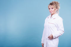 Middle aged female medical doctor. Royalty Free Stock Photos