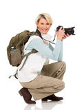 Middle aged female photographer Royalty Free Stock Photography
