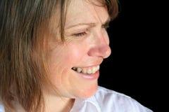 Middle Aged Female Profile Smiling Royalty Free Stock Image