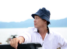 Middle-aged fisherman Royalty Free Stock Photography