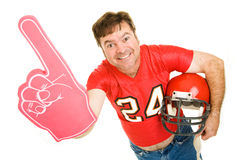 Middle Aged Footbal Fan Royalty Free Stock Images