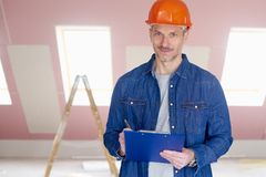Manual worker portrait Royalty Free Stock Image