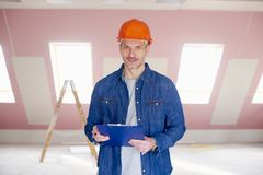 Manual worker portrait Royalty Free Stock Photo