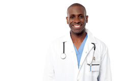 Middle aged happy male doctor Stock Photography