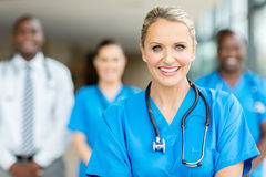 Middle aged healthcare worker Royalty Free Stock Photos