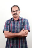 A middle aged Indian with folded hands Royalty Free Stock Photos