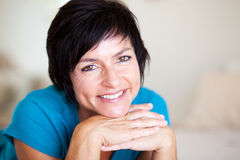 Middle aged lady Royalty Free Stock Photo