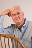 Middle-aged Man. Portrait of a Middle-aged Man with Glasses royalty free stock photo