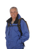 Middle aged man in anorak Stock Images