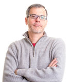 Middle Aged Man with arms folded Royalty Free Stock Photos
