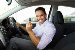 Middle aged man car Royalty Free Stock Photos