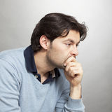 Middle-aged man dissapointed Royalty Free Stock Images