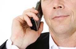 Middle aged man doing a phone call Stock Photography