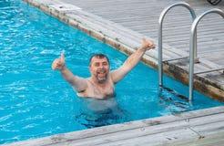 Middle-aged man enjoying summertime Stock Photo