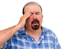 Middle-aged man experiencing a headache Royalty Free Stock Photos