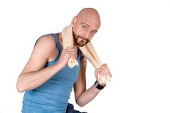 Middle aged man, fitness Royalty Free Stock Image