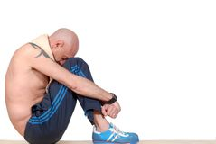 Middle aged man, fitness Royalty Free Stock Photography