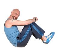Middle aged man, fitness Stock Photos