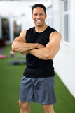 Middle aged man gym Royalty Free Stock Photo