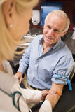 Middle Aged Man Having Blood Test Done Royalty Free Stock Photos