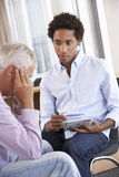 Middle Aged Man Having Counselling Session Royalty Free Stock Image