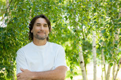Middle Aged Man In Park Royalty Free Stock Photo