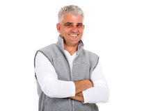 Middle aged man looking Stock Photo