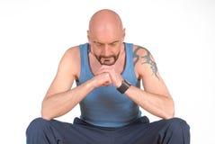 Middle aged man, meditating Stock Image