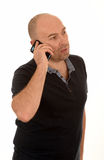 Middle aged man on phone Stock Photography