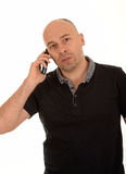 Middle aged man on phone Royalty Free Stock Photography