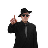 Middle aged man points finger Royalty Free Stock Photo