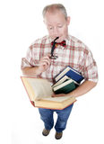 Middle Aged Man Reading A Book Stock Photos