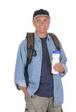 Middle aged man ready for a hike Stock Photography