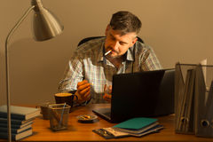 Middle aged man's break Royalty Free Stock Photography