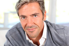 Middle-aged man's portrait Stock Photos