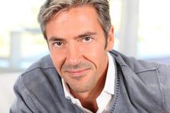 Middle-aged man's portrait Stock Photos