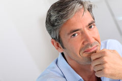 Middle-aged man's portrait Royalty Free Stock Photos