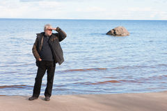 Middle-aged man at the sea. Stock Images
