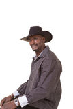 Middle aged man wearing a cowboy hat Stock Photos