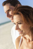 Middle Aged Man Woman Couple At Beach Royalty Free Stock Photography