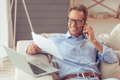 Middle aged man working Royalty Free Stock Images