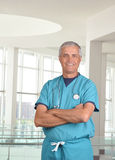 Middle aged medical professional with Stethoscope Royalty Free Stock Photos
