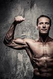 Middle-aged muscular man Stock Images
